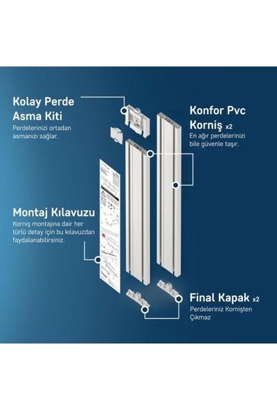 Slimflex Konfor Korniş Kolay Perde Asma Seti 3 Kanallı 4.5m
