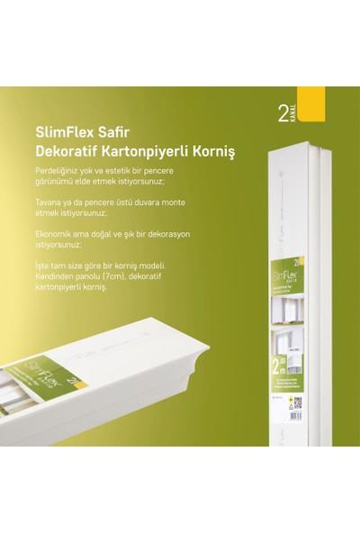 Slimflex Safir 2 Kanallı Kartonpiyerli Korniş Beyaz 2m