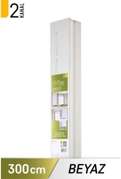 Slimflex Safir 2 Kanallı Kartonpiyerli Korniş Beyaz 3m