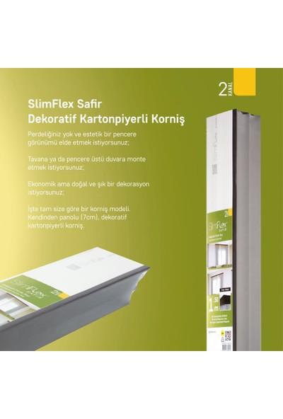 Slimflex Safir 2 Kanallı Kartonpiyerli Korniş Venge 1.5m