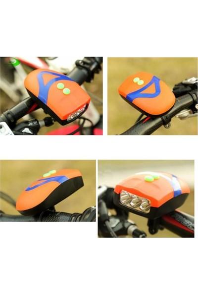 Netodak Bisiklet Ön Farı Kornalı Bisiklet Ön Lamba Pilli (Piller Dahil)