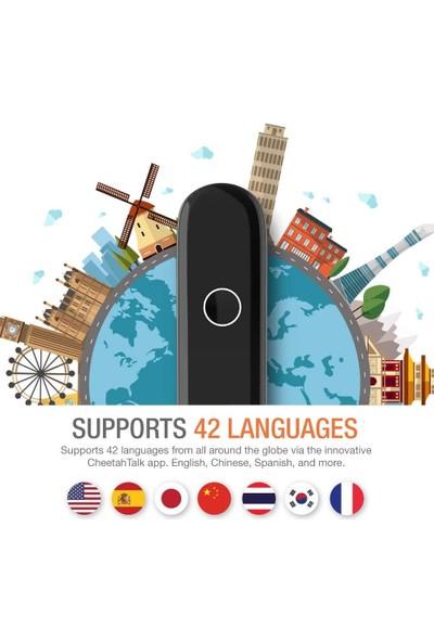 """Cheetah cm Akıllı Dil Tercüman Cihazı – Siyah """"42 Dil Destekler"""