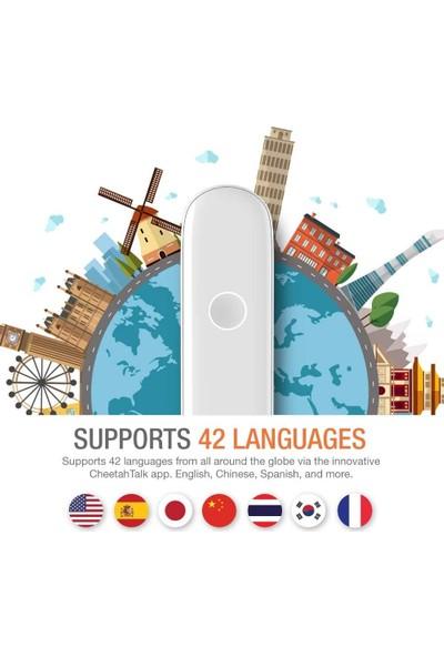 """Cheetah cm Akıllı Dil Tercüman Cihazı –beyaz """"42 Dil Destekler"""