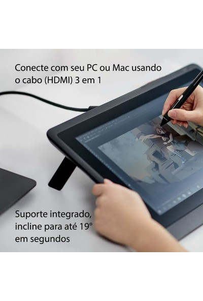 Wacom Cintiq 16 Ekranlı Çizim Tableti (DTK1660K0A)