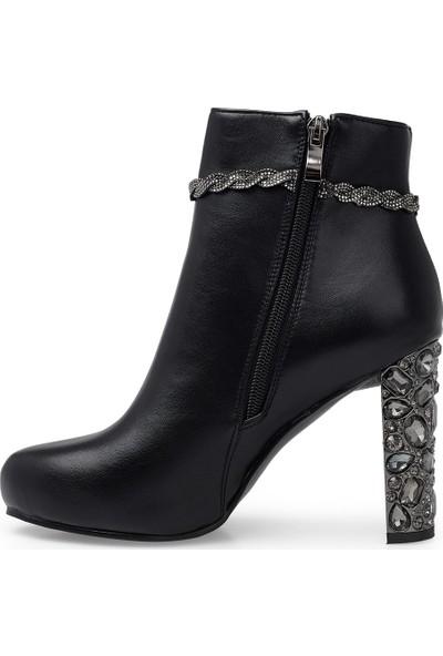 Guja Fermuarlı Topuklu Çizme Kadın Çizme 38920K1341