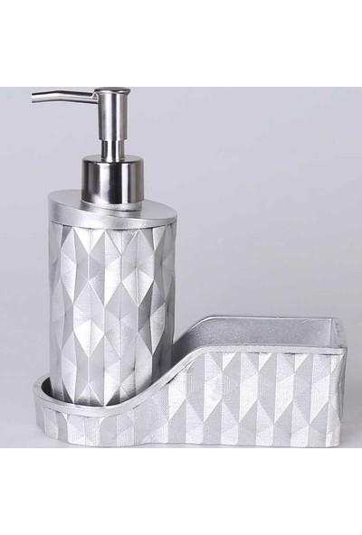 Selim Home Prizma Gümüş Sıvılı Süngerlik Sabunluk