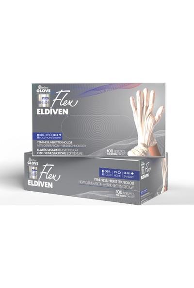 Reflex Flex Yeni Nesil Hibrit Teknoloji Polietilen Eldiven 100'lü Paket Beyaz
