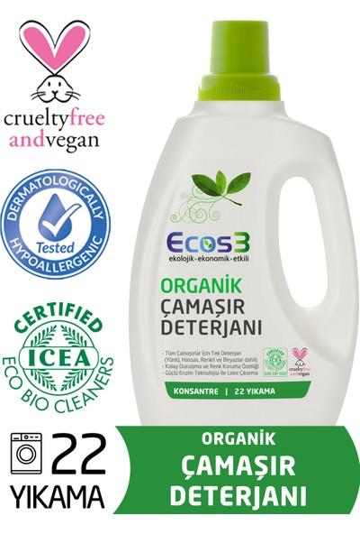 Ecos3 Organik Sıvı Çamaşır Deterjanı (22 Yıkama)