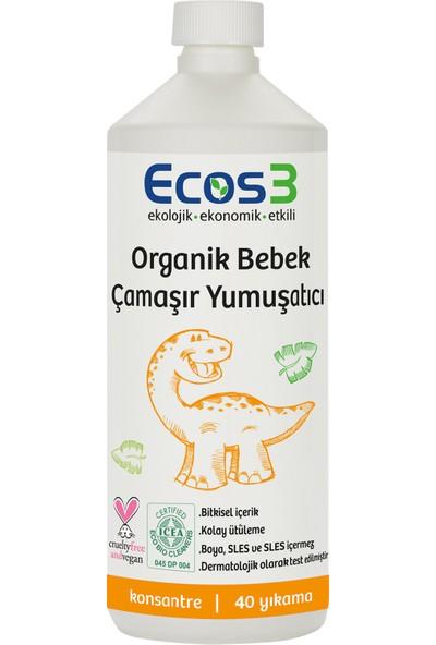 Ecos3 Organik Bebek Çamaşır Yumuşatıcı - 80 Yıkama (2 X 1000 Ml)