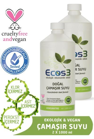 Ecos3 Ekolojik Doğal Çamaşır Suyu 2'li Set (2 X 1000 Ml)