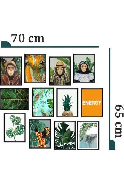 Dekorasna 12 Parça Çerçeve Görünümlü Mdf Tablo RMD49