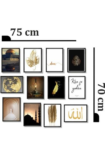 Dekorasna 12 Parça Çerçeve Görünümlü Mdf Tablo RMD27