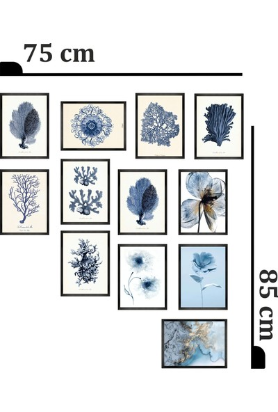 Dekorasna 12 Parça Çerçeve Görünümlü Mdf Tablo RMD28