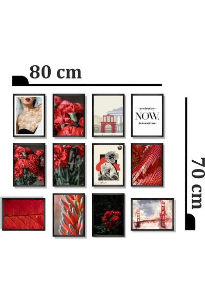 Dekorasna 12 Parça Çerçeve Görünümlü Mdf Tablo RMD31