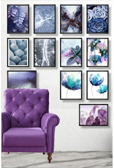 Dekorasna 12 Parça Çerçeve Görünümlü Mdf Tablo RMD39