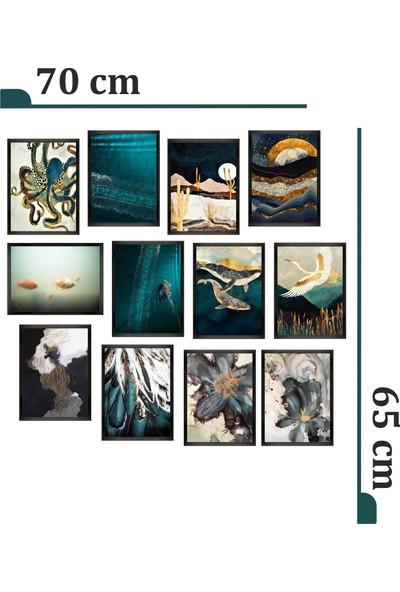 Dekorasna 12 Parça Çerçeve Görünümlü Mdf Tablo RMD48