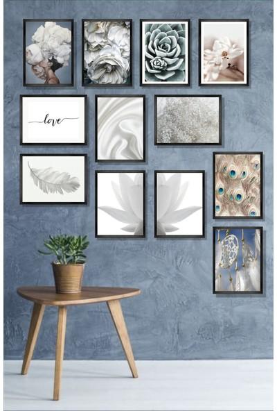 Dekorasna 12 Parça Çerçeve Görünümlü Mdf Tablo RMD26