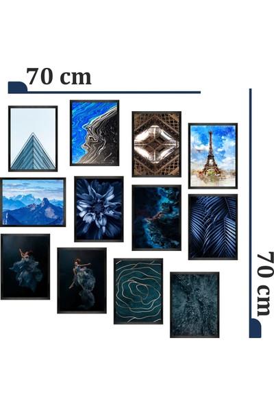 Dekorasna 12 Parça Çerçeve Görünümlü Mdf Tablo RMD46