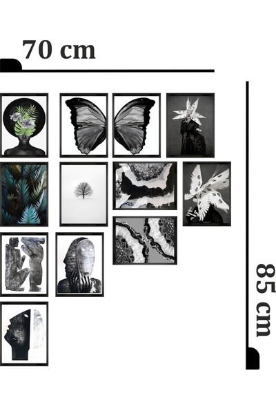 Dekorasna 12 Parça Çerçeve Görünümlü Mdf Tablo RMD36
