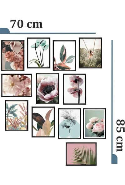Dekorasna 12 Parça Çerçeve Görünümlü Mdf Tablo RMD44