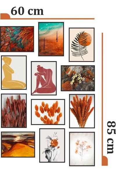 Dekorasna 12 Parça Çerçeve Görünümlü Mdf Tablo RMD38