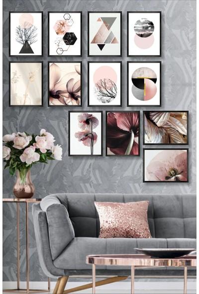 Dekorasna 12 Parça Çerçeve Görünümlü Mdf Tablo RMD40