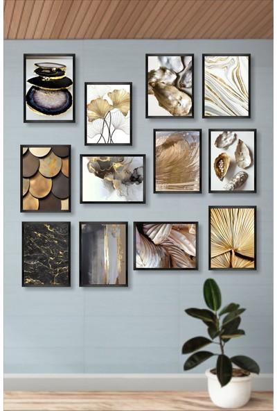 Dekorasna 12 Parça Çerçeve Görünümlü Mdf Tablo RMD33