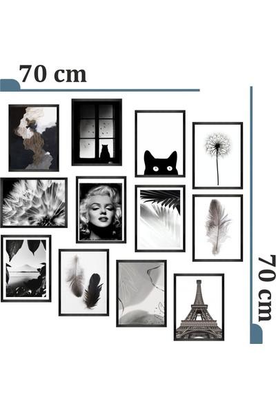 Dekorasna 12 Parça Çerçeve Görünümlü Mdf Tablo RMD45