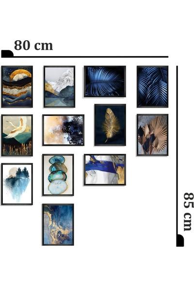 Dekorasna 12 Parça Çerçeve Görünümlü Mdf Tablo RMD25