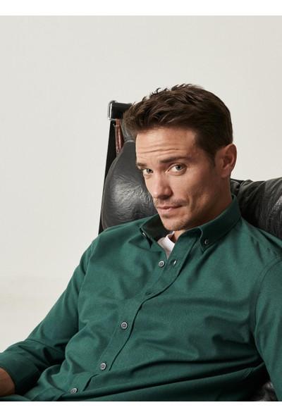 Altınyıldız Classics Tailored Slim Fit Düğmeli Yaka Flanel Kışlık Gömlek