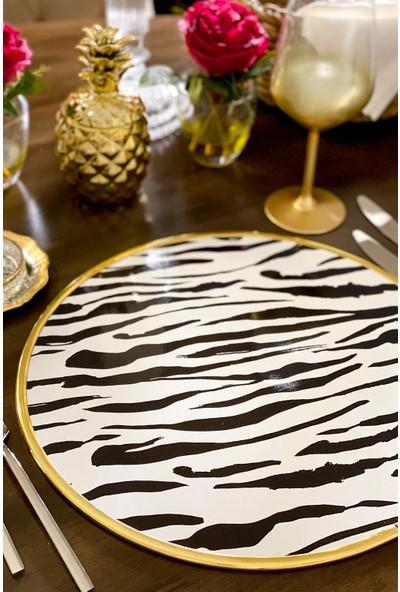 Gift And Story Zebra Desenli Amerikan Servis 6'lı Supla