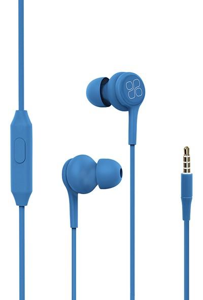 Promate Duet Kulaklık Kulak İçi HD Stereo Kablolu Dahili Mikrofonlu Ses Kontrollü