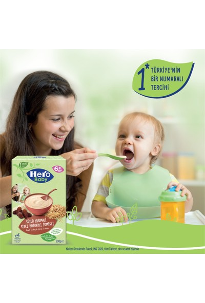 Hero Baby Sütlü Hurmalı Siyez Buğdaylı İrmikli