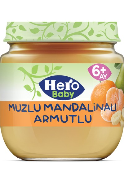 Hero Baby Muz Mandalina ve Armut Püreli Kavanoz Mama 125g