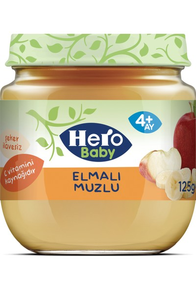 Hero Baby Elmalı Muzlu Kavanoz Mama 125g