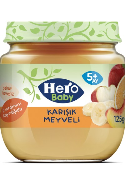 Hero Baby Karışık Meyve Püreli Kavanoz Mama 125g
