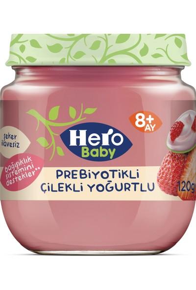 Hero Baby Prebiyotikli Çilekli Yoğurtlu Kavanoz Mama 120g