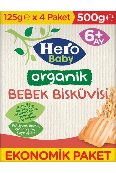 Hero Baby Organik Bebek Bisküvisi 500g (4x125g)