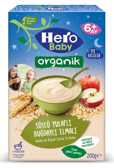 Hero Baby Organik Sütlü Buğdaylı Yulaflı Elmalı Kaşık Mama 200g