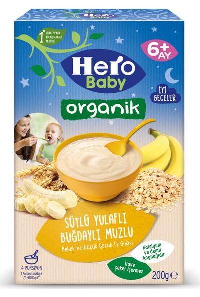 Hero Baby Organik Sütlü Buğdaylı Yulaflı Muzlu Kaşık Mama 200g
