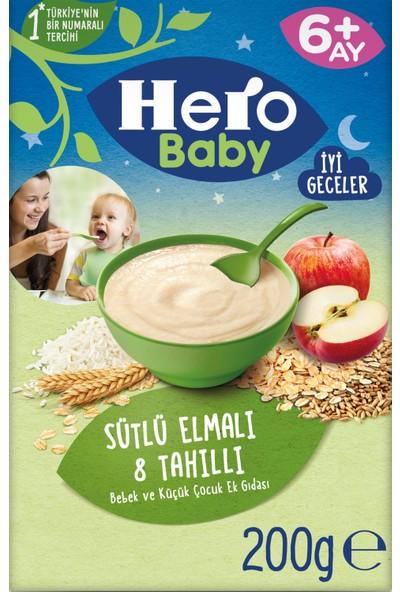 Hero Baby Sütlü 8 Tahıllı Elmalı Kaşık Mama 200g