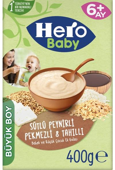 Hero Baby Sütlü 8 Tahıllı Peynirli Pekmezli Kaşık Mama 400g