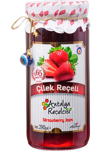 Antalya Reçelcisi Çilek Reçeli %65 Meyve Gurme Serisi