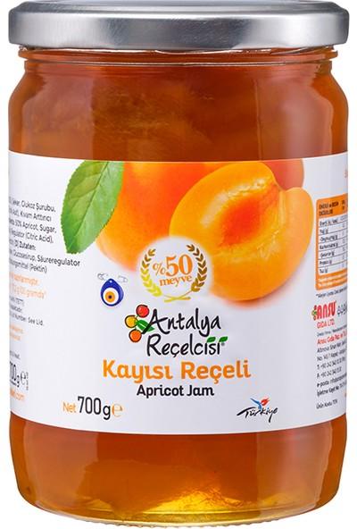 Antalya Reçelcisi Kayısı Reçeli %50 Meyve Klasik Seri 700 Gr