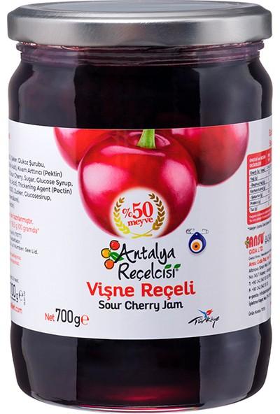 Antalya Reçelcisi Vişne Reçeli %50 Meyve Klasik Seri 700 Gr
