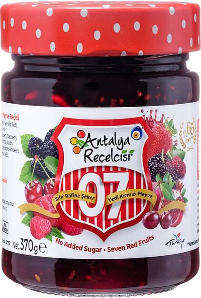 Antalya Reçelcisi Şeker İlavesiz 0 Şeker 7 Meyve ( Kırmızı Meyveler) 370 Gr