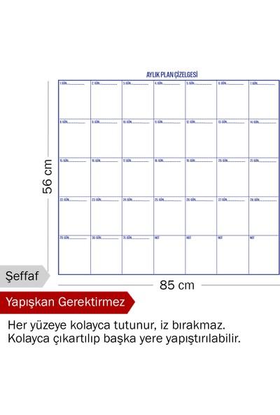 Evbuya Aylık Plan Akıllı Kağıt Tahta 110 x 100 cm
