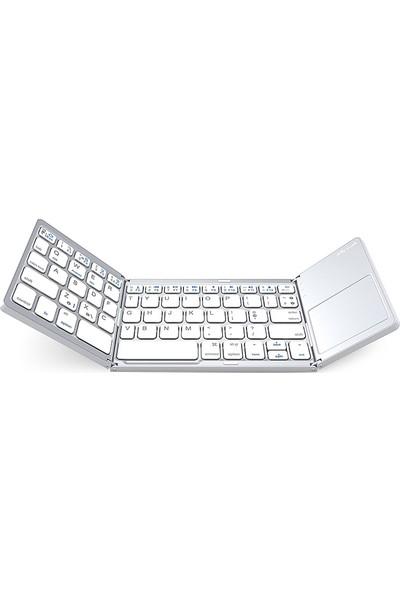 Zerodate Mini Katlanabilir Kablosuz 791734917831 Bluetooth Klavye (Yurt Dışından)