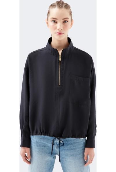 Mavi Siyah Bluz