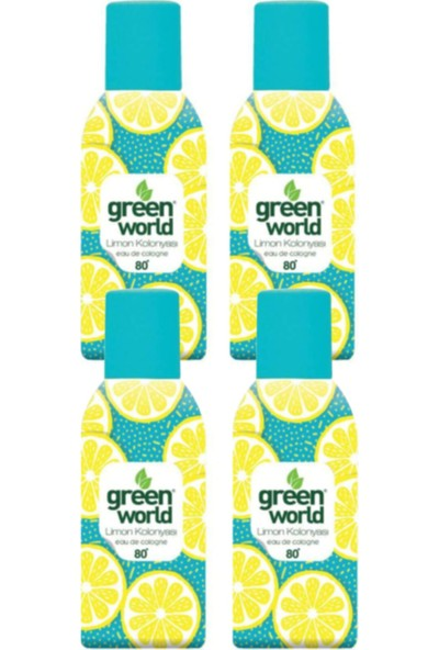 Green World 80 Derece Limon Kolonyası 150 ml x 4